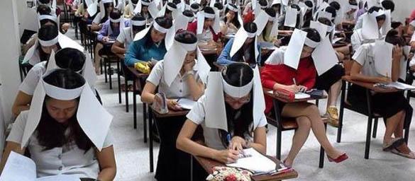 anti cheating helmet